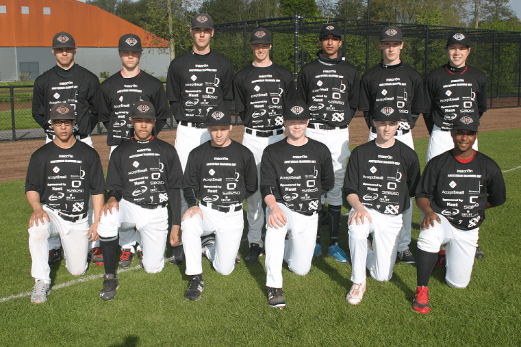 Invint sponsort Diamonds Baseball Academy